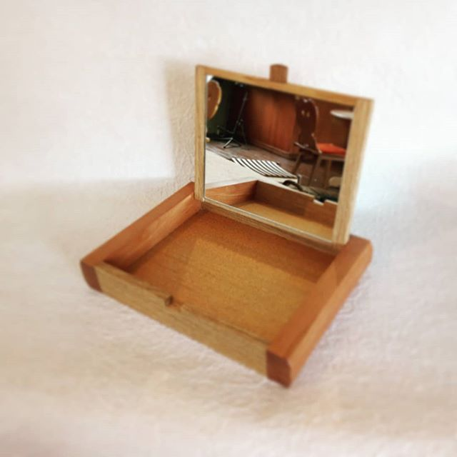 #box #oak #woodworking #mirror #handmade #hidekazu_kiguchi #openbox #hand_weik_moebel #accessorybox # #ordermade